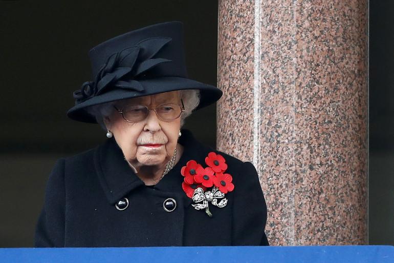 Elizabeth II, le 8 novembre 2020 lors du Remembrance Sunday