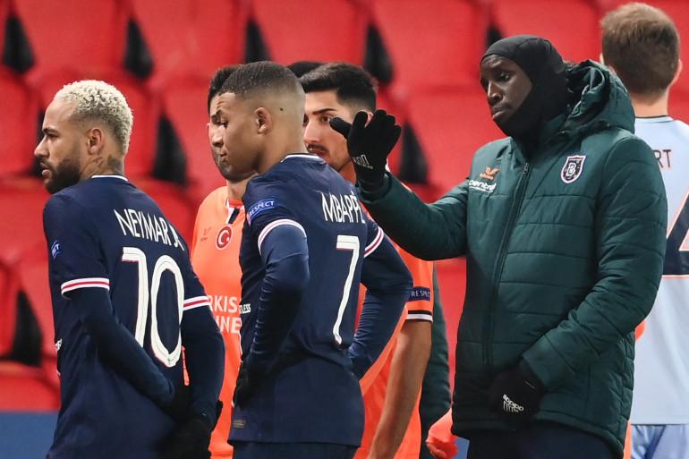 Naymar, Kylian Mbappé et Demba Ba au Parc des Princes le 8 décembre 2020