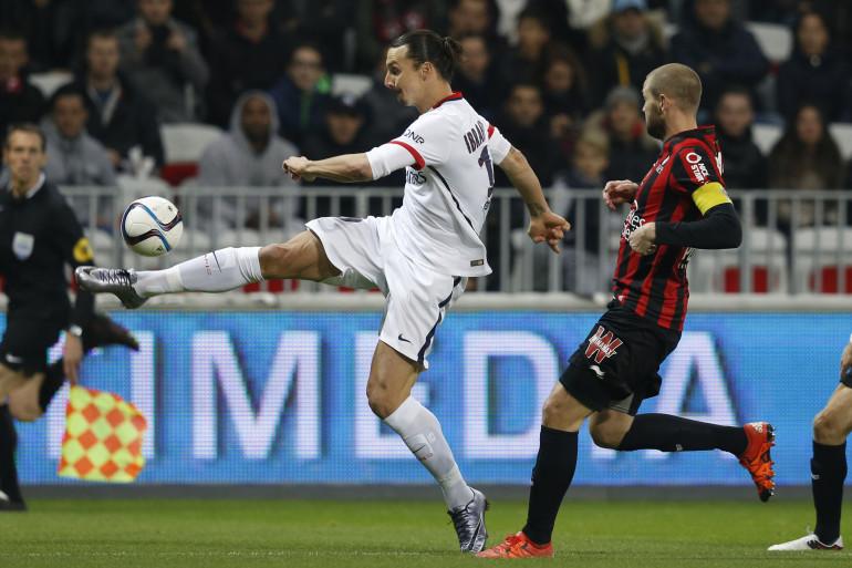 Zlatan Ibrahimovic lors de Nice-PSG le vendredi 4 décembre 2016