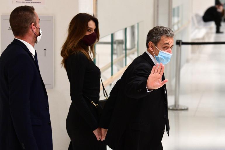 Carla Bruni et Nicolas Sarkozy au tribunal le 9 décembre 2020