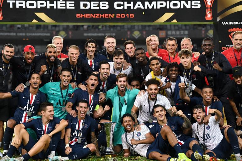 L'équipe de football du PSG, lors du Trophée des Champions en 2019