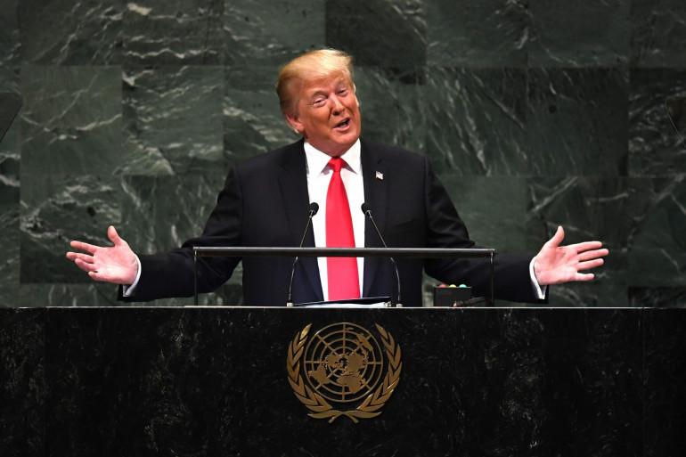 Donald Trump, devant l'Assemblée des Nations Unies, le 25 septembre 2018