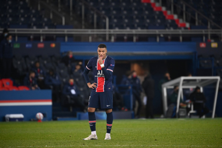 Kylian Mbappé au Parc des Princes le 9 décembre 2020