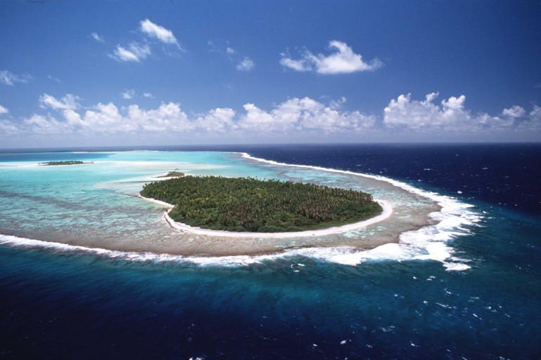 Une vue d'une île dans le Pacifique