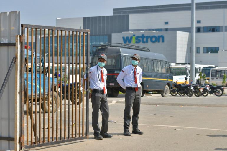 L'usine de l'entreprise taïwanaise qui fabrique des iPhones en Inde, près de Bangalore