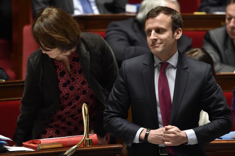 Emmanuel Macron à l'Assemblée nationale, le 29 mars 2016