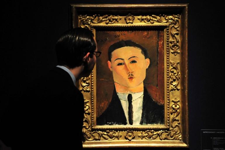 Un tableau de Modigliani lors d'une exposition à Londres en 2013.