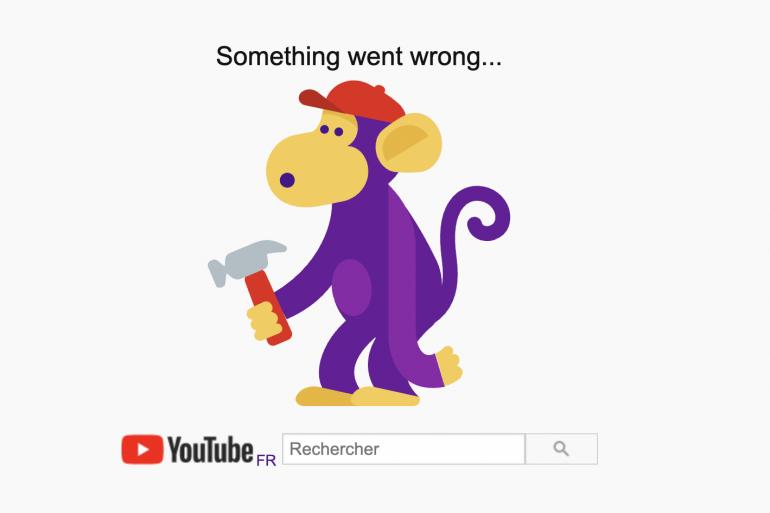 YouTube était inaccessible ce lundi 14 décembre 2020