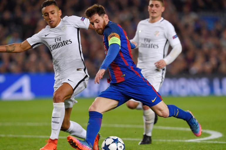 Messi face à Marquinhos au Camp Nou le 9 mars 2017
