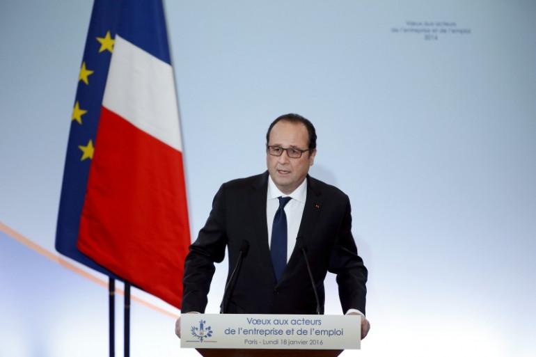 François Hollande, le 18 janvier 2016