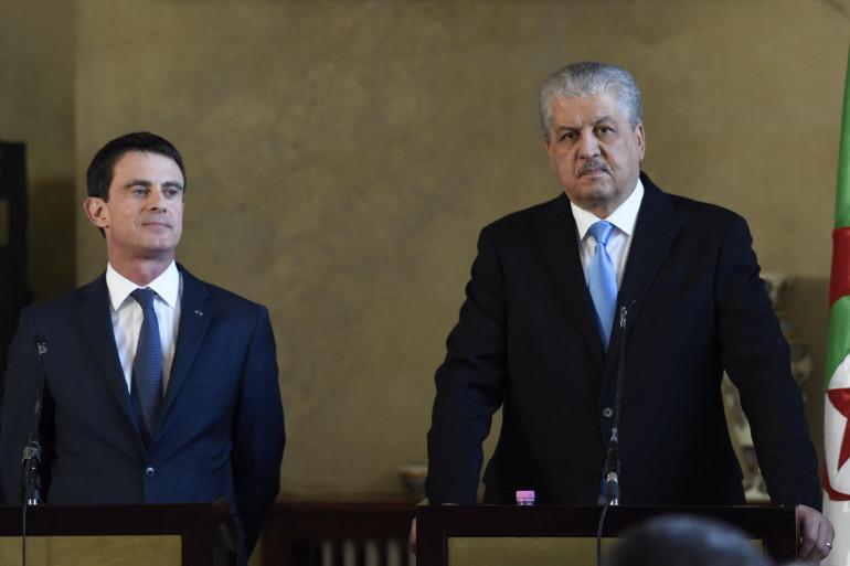 Manuel Valls et son homologue algérien Abdelmalek Sellal en Algérie le 10 avril