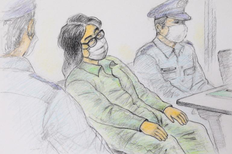 Takahiro Shiraishi pendant son procès au tribunal de Tokyo, le 30 septembre 2020.