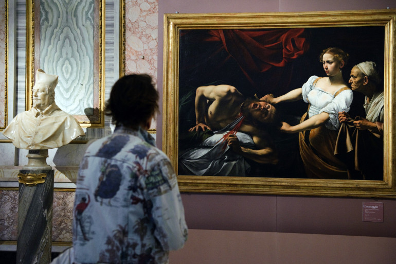 Un tableau du Caravage exposé dans un musée de Rome