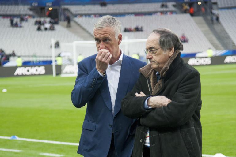 Didier Deschamps et Noël Le Graët mardi 29 mars 2016 au Stade de France