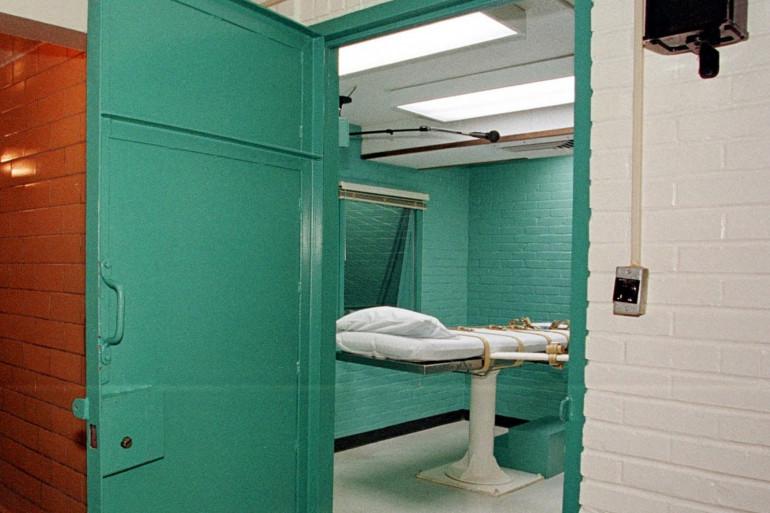 Une salle d'exécution à l'unité Huntsville du département de justice pénale du Texas (Photo d'illustration).