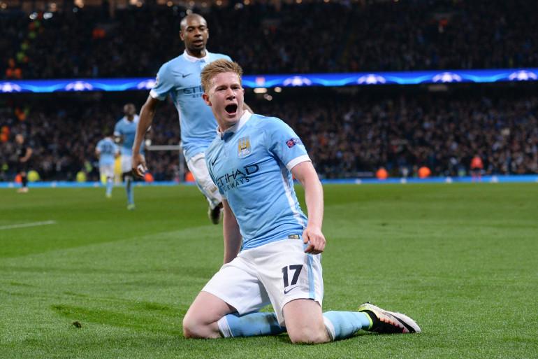 Kevin de Bruyne sous les couleurs de Manchester City, le 12 avril 2016