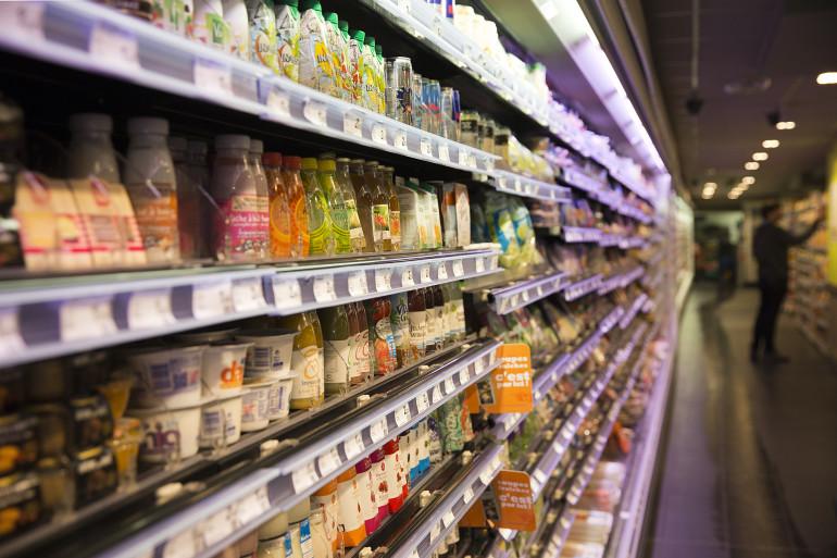 Un rayon de supermarché (illustration)
