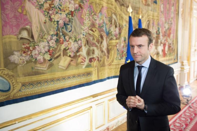 Le ministre de l'Économie Emmanuel Macron, le 7 mars 2016 à Matignon
