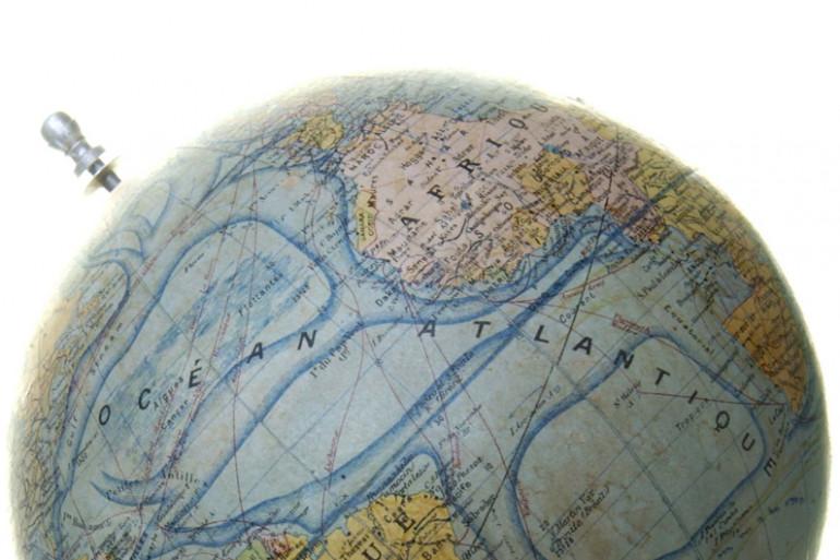 L'hémisphère Nord sur une globe terrestre (illustration)