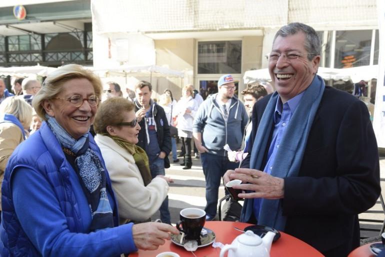 Isabelle et Patrick Balkany, le 16 mars 2014 à Levallois-Perret