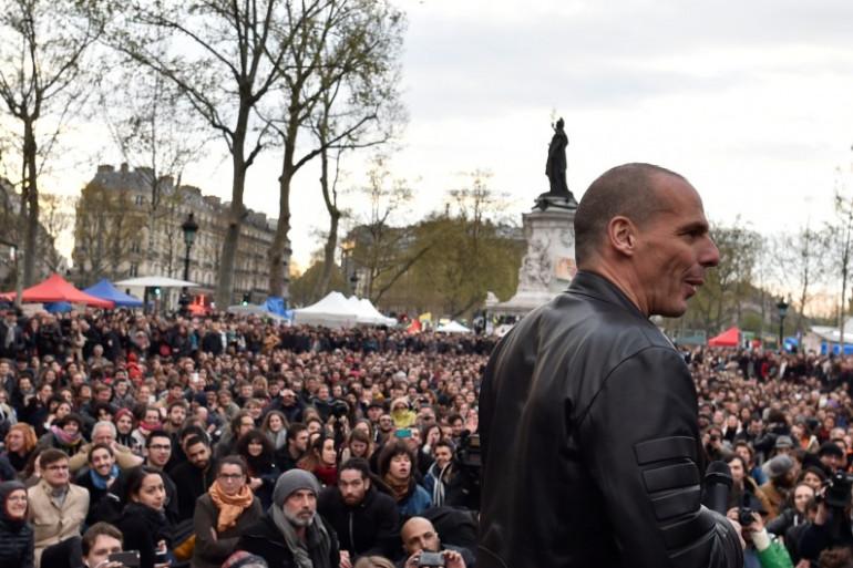 L'ancien ministre grec, Yanis Varoufakis a participé à la Nuit debout du 16 avril 2016