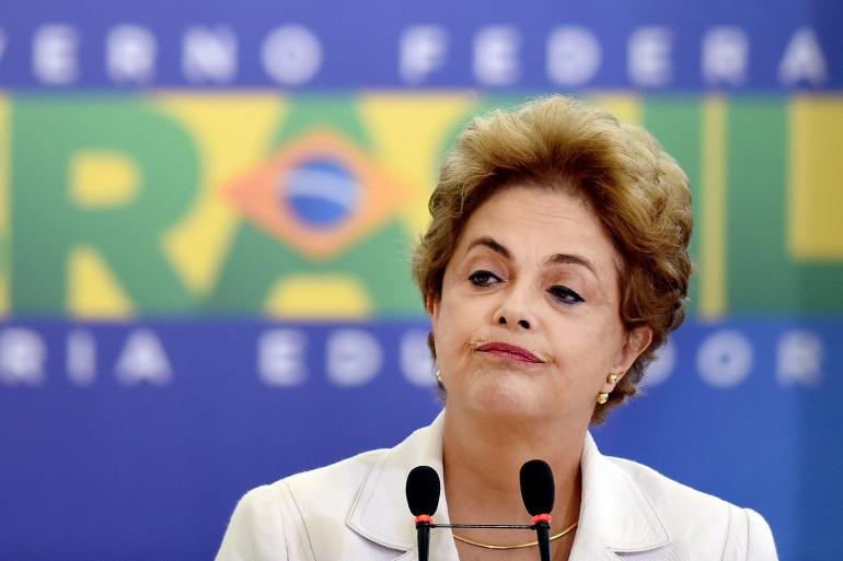 La présidente du Brésil Dilma Rousseff, à Brasilia le 12 avril 2016