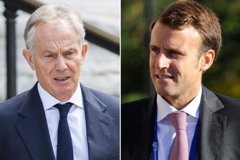 Emmanuel Macron et Tony Blair