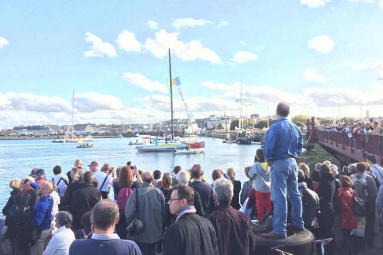 Les vingt-six voiliers ont pris place dans les bassins des quais de la Bourse et Saint-Louis à Saint-Malo