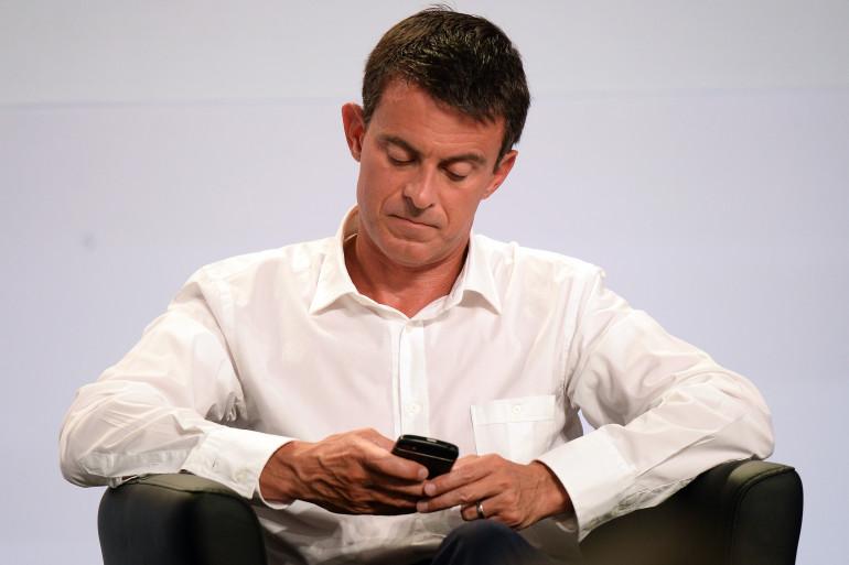 Manuel Valls, au congrès du Parti socialiste à La Rochelle le 30 août 2015