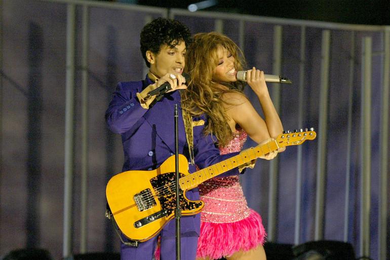 Prince et Beyoncé le 8 février 2004 aux Grammy Awards