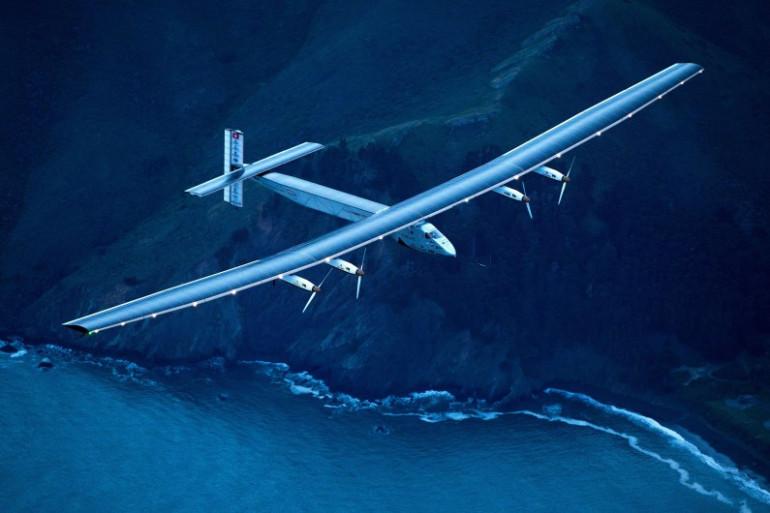 Solar Impulse 2 au-dessus des côtes californiennes le 24 avril.