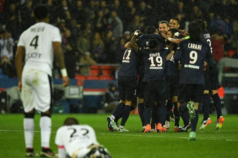 Paris s'est imposé 4-0 contre Rennes