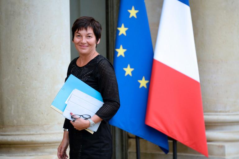 Annick Girardin, ministre de la Fonction publique, à l'Élysée, le 27 août 2014.