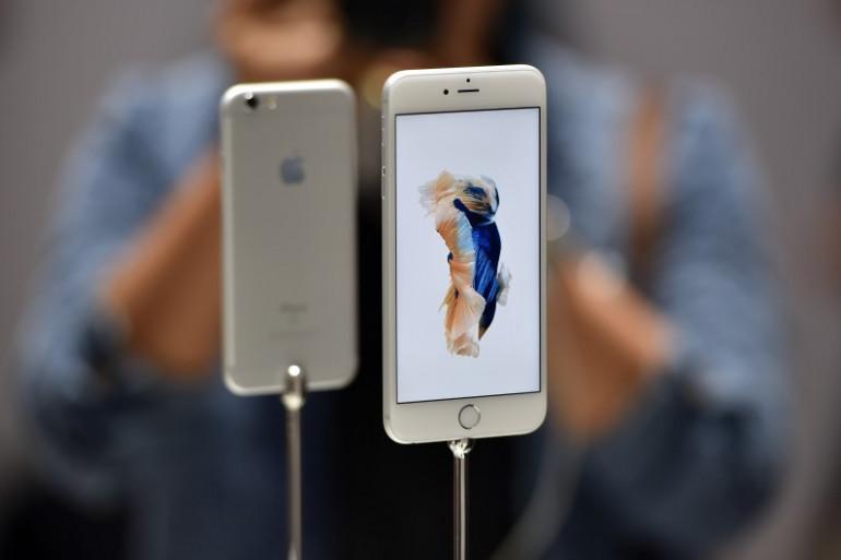 L'Phone 6s d'Apple exposé à San Francisco, mercredi 9 septembre