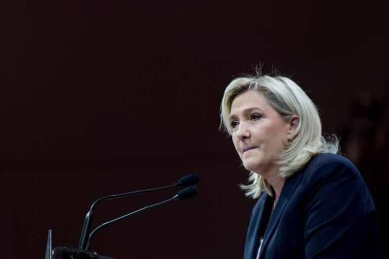 Marine Le Pen lors de son discours du 1er mai 2016 à Paris