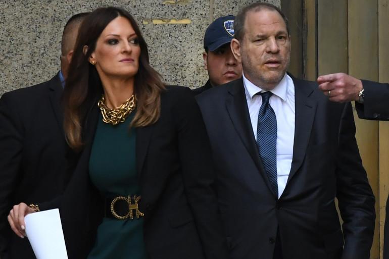 Donna Rotunna et son client, Harvey Weinstein, à la cour suprême de New-York le 11 juillet