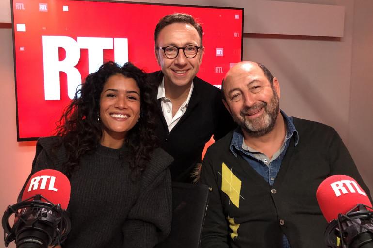 Sabrina Ouazani et Kad Mérad avec Stéphane Bern