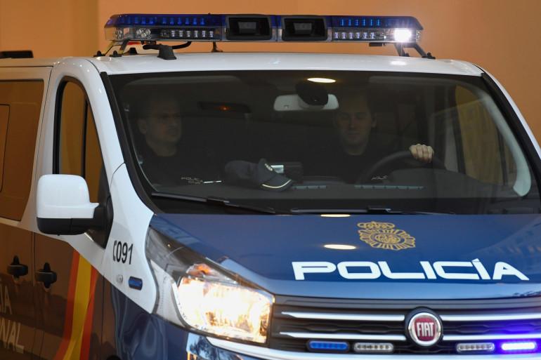 Une voiture de la police espagnole