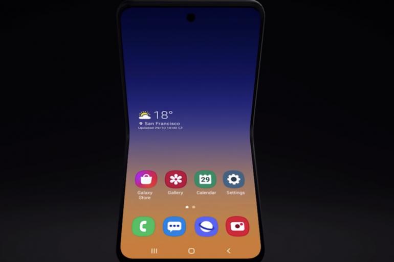 Concept de Galaxy Fold 2 présenté par Samsung