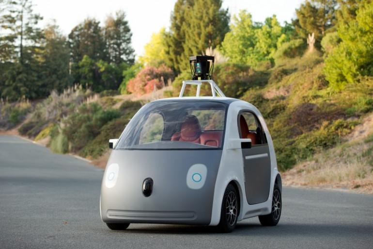Une voiture autonome de Google le 28 mai 2014