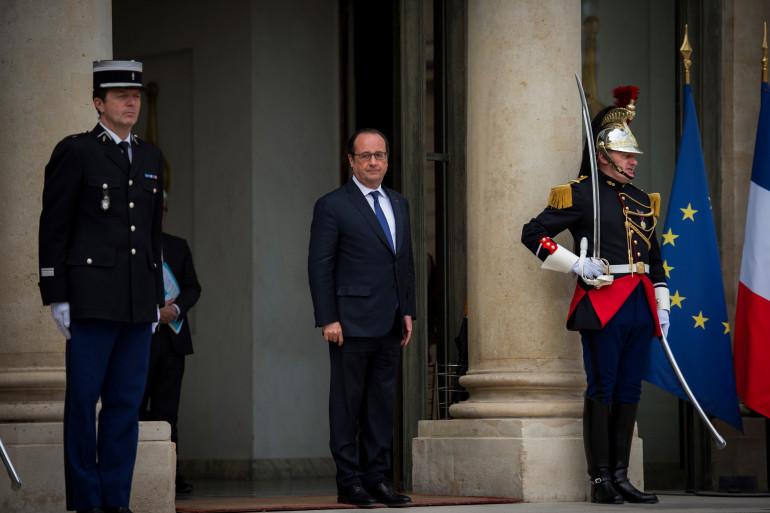 François Hollande à l'Élysée, le 9 mai 2016