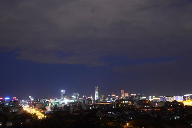 Une vue de Pékin la nuit (illustration)