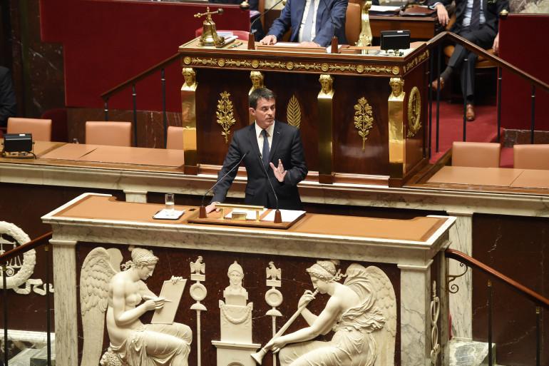 Manuel Valls à l'Assemblée nationale le 10 mai 2016