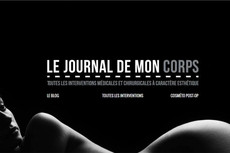 """Un détail de la page d'accueil du site """"Le journal de mon corps"""""""