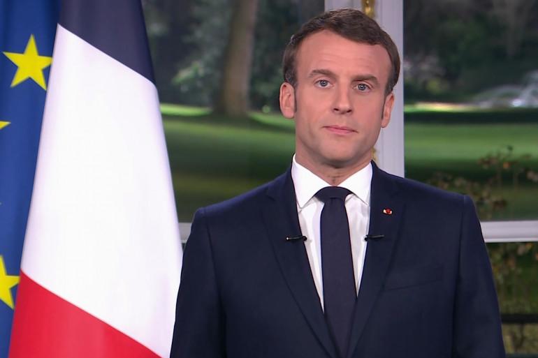 Emmanuel Macron prononce ses vœux aux Français le 31 décembre 2019.