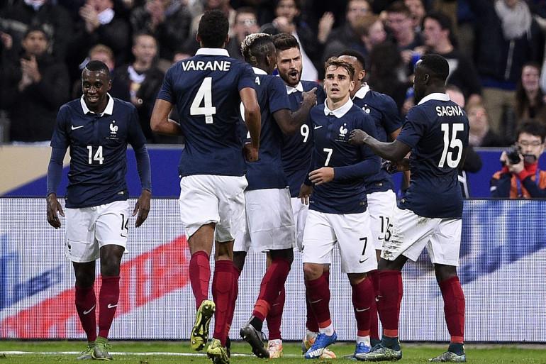 L'équipe de France de football le 13 novembre 2015