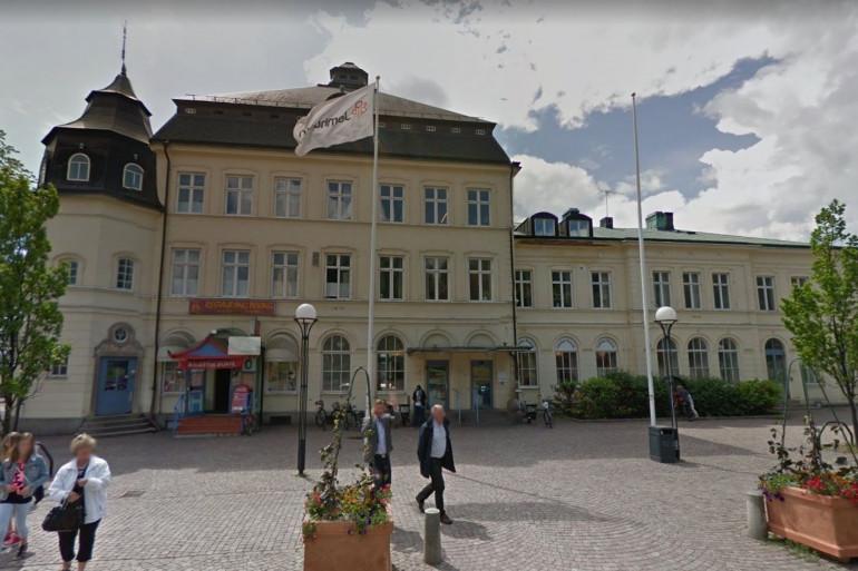 La gare centrale de Kalmar en Suède