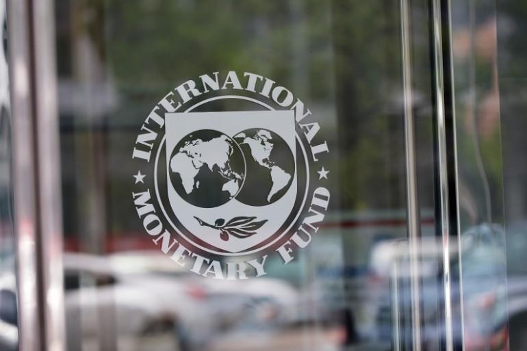 Le sigle du FMI à Washington