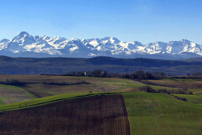 Des glaciers dans les Pyrénées (Illustration)