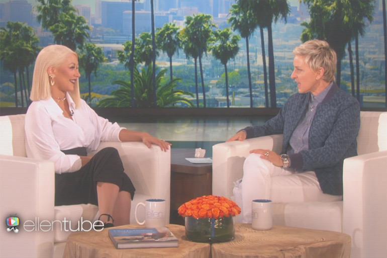 Christina Aguilera était l'invité d'Ellen DeGeneres